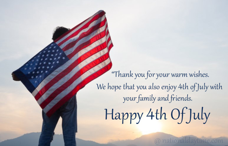 Happy 4th of July Reply Wishes Messages